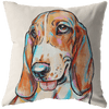 Basset Hound Pillow Cover Only, One Sided Print, No Insert Included, No Home is Complete Without a Basset Hound, Basset Mom,