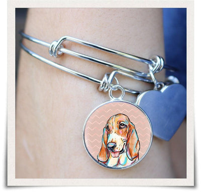 Jewelry - Basset Hound Bangle Bracelet