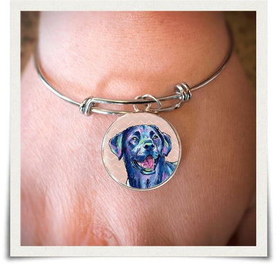 Jewelry - Black Labrador Retriever Bangle Bracelet