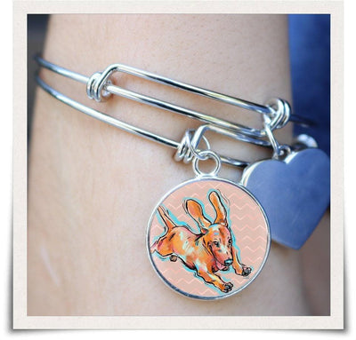 Jewelry - Dachshund Bangle Bracelet V.2