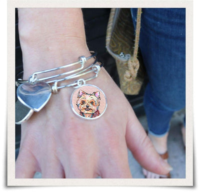 Jewelry - Yorkshire Terrier Bangle Bracelet