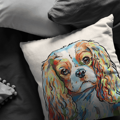 Cavalier King Charles Pillow Cover Only One Sided Print, No Insert Included, No Home is Complete Without a Cav King Charles Spaniel,
