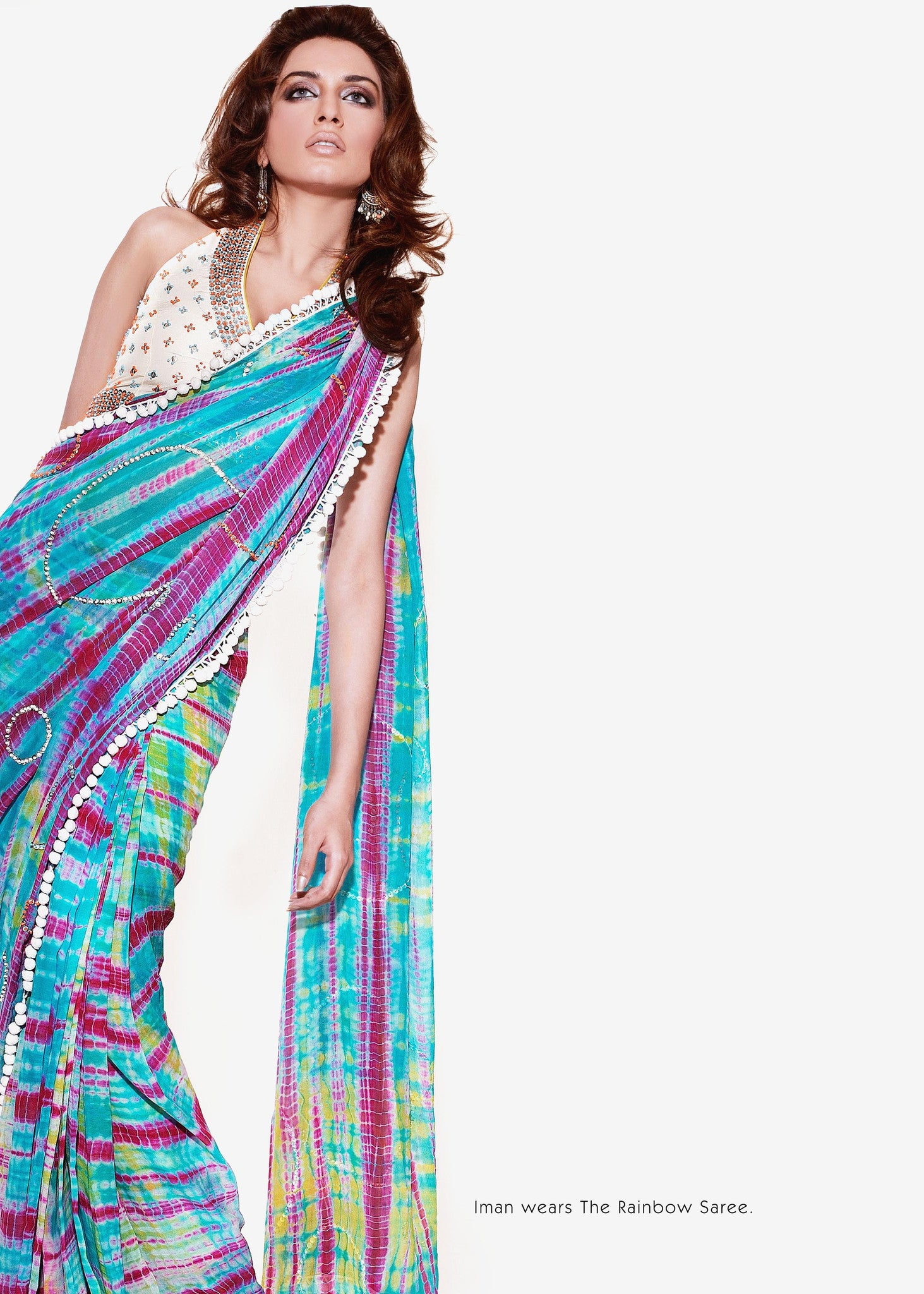 Rainbow Saree