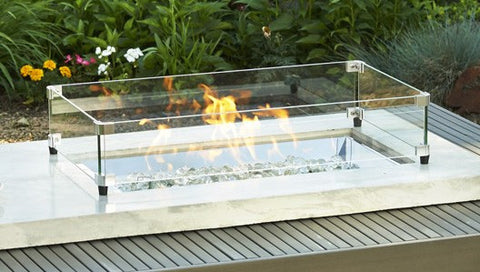 Glass Fire Pit Table FIRE + PIT