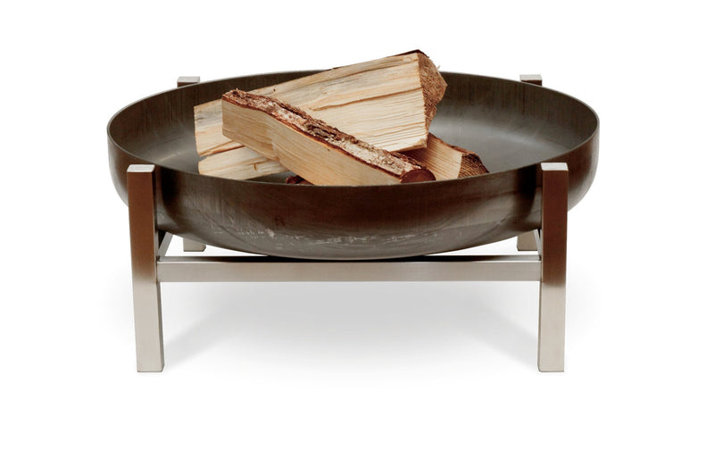 Curonian Solid Steel Fire Pit Parnidis - Short - Fire + Pit