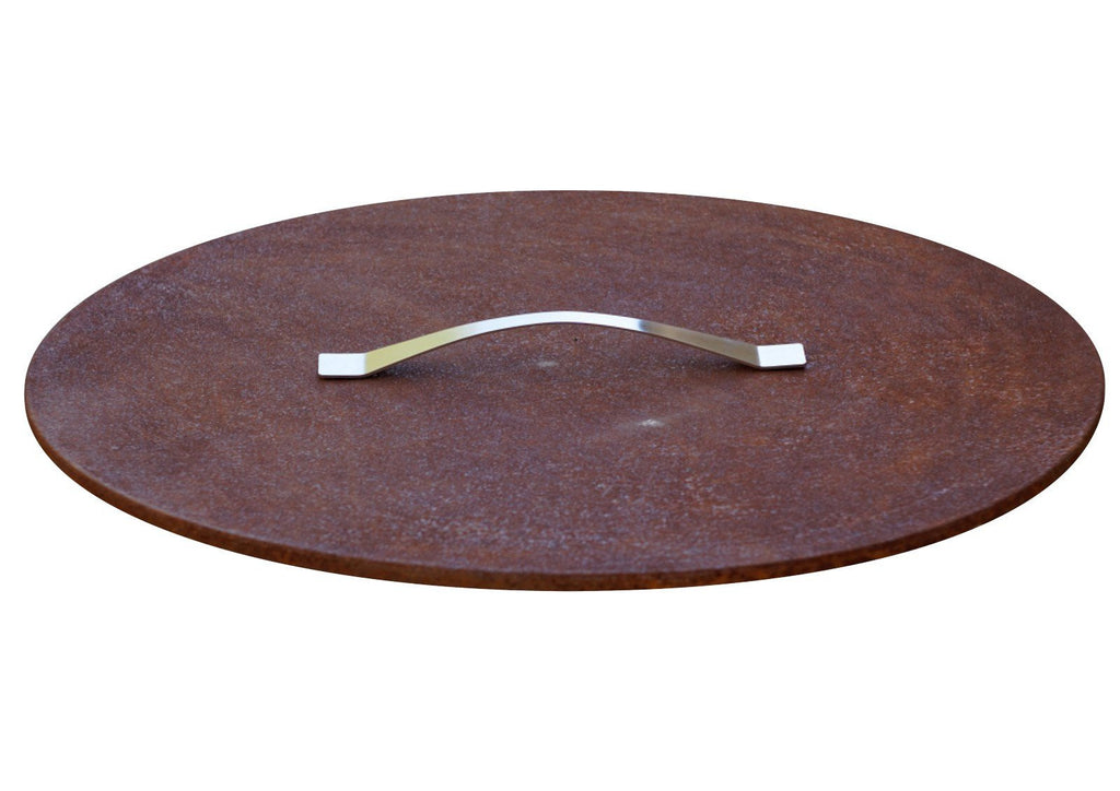 "Curonian Fire Pit Rusting Steel Cover/Lid - 25"" - Fire + Pit"