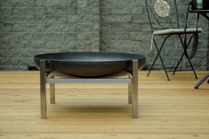 Curonian Solid Steel Fire Pit Parnidis - Large - Fire + Pit