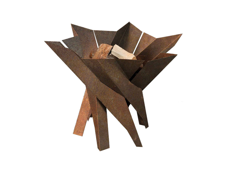 Curonian Wood Burning Fire Pit Phoenix Blossom - Rusting Steel - Fire + Pit