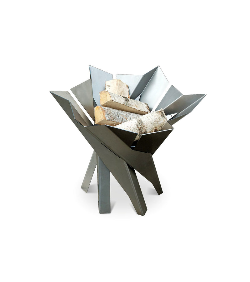 Curonian Wood Burning Fire Pit Phoenix Blossom - Stainless Steel - Fire + Pit