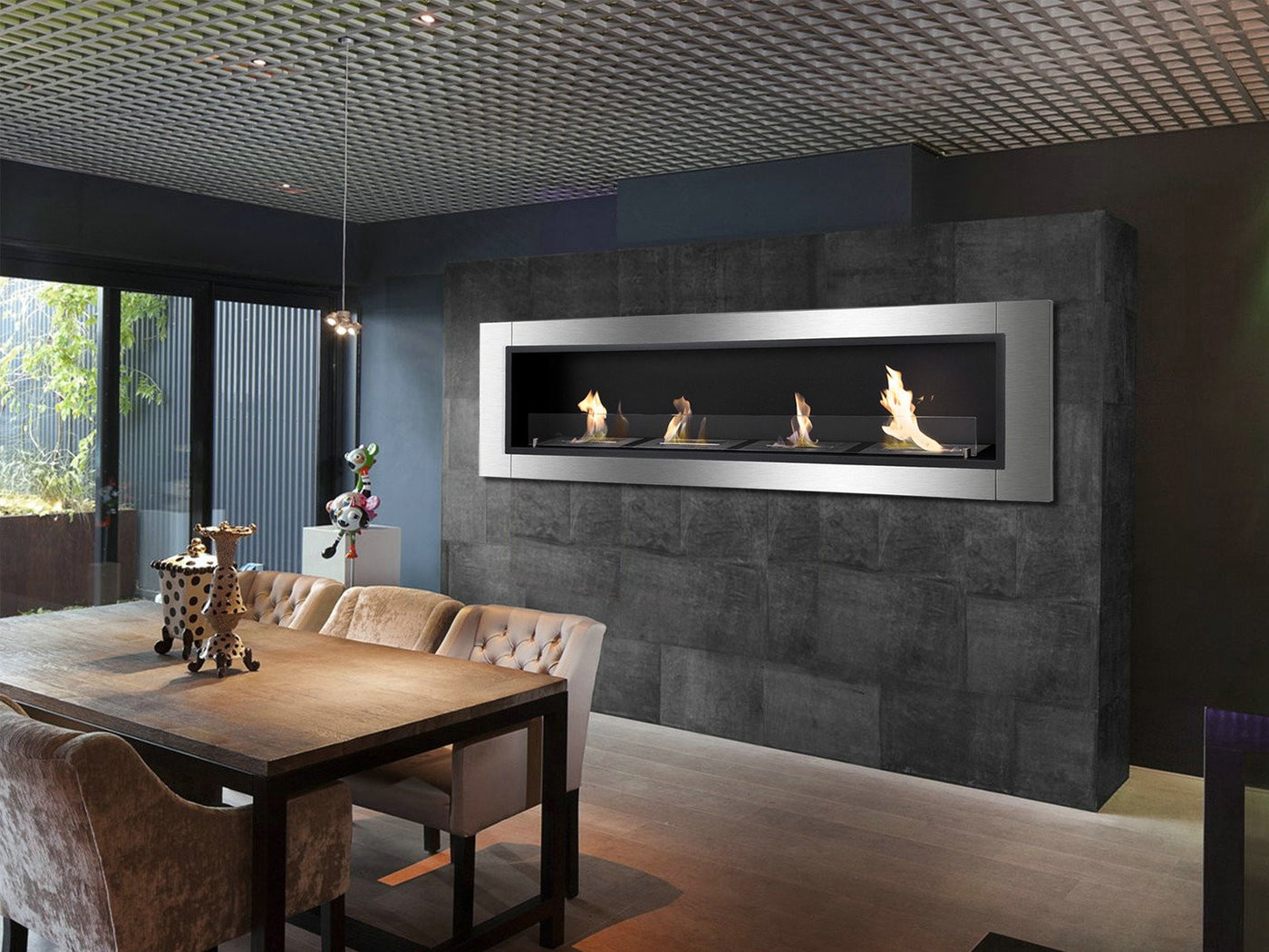 Ignis Accalia Wall Mounted / Recessed Ventless Ethanol Fireplace ...