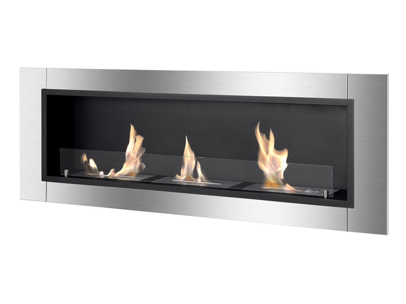 Ignis Ardella Wall Mounted / Recessed Ventless Ethanol Fireplace with Glass Barrier - Fire + Pit
