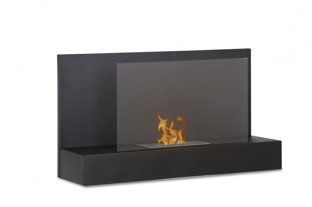 Ignis Ater BK Wall Mounted Ventless Ethanol Fireplace - Fire + Pit