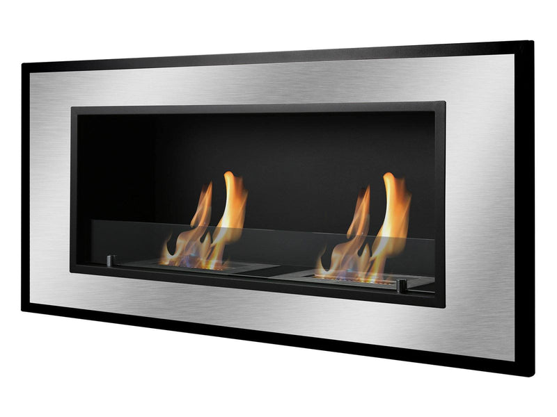 Ignis Bellezza Wall Mounted / Recessed Ventless Ethanol Fireplace - Fire + Pit