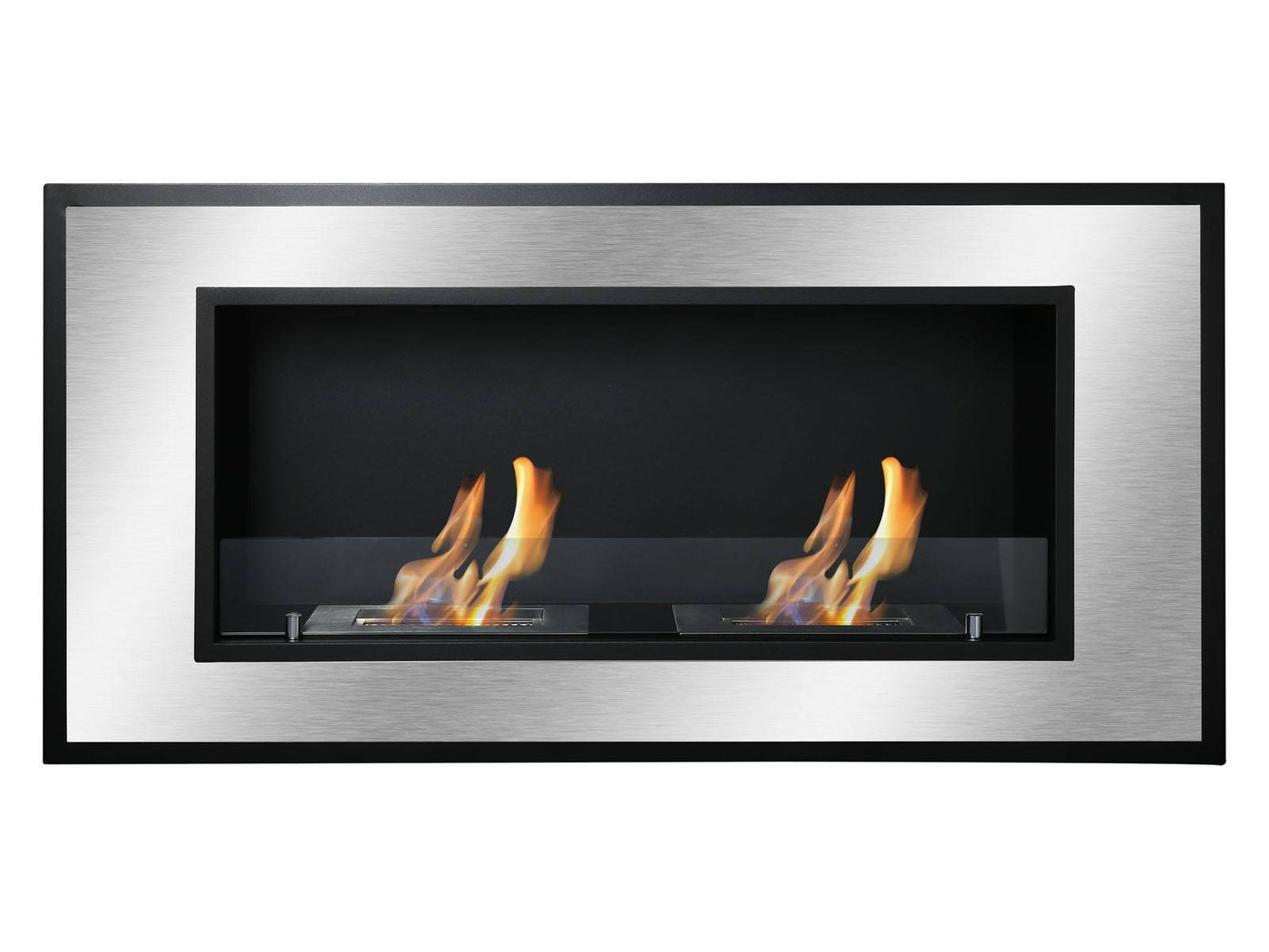 ignis bellezza wall mounted recessed ventless ethanol fireplace