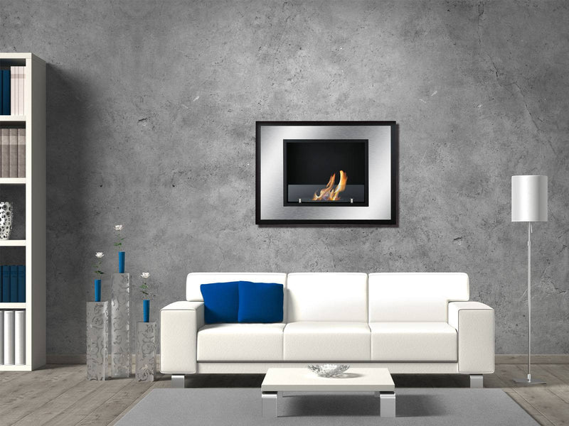 Ignis Bellezza Mini Wall Mounted / Recessed Ventless Ethanol Fireplace - Fire + Pit