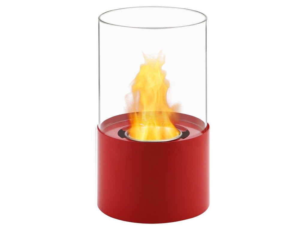 Ignis Circum Red Tabletop Ventless Ethanol Fireplace - Fire + Pit