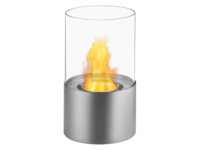 Ignis Circum Stainless Steel Tabletop Ventless Ethanol Fireplace - Fire + Pit