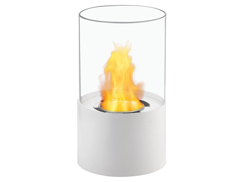 Ignis Circum White Tabletop Ventless Ethanol Fireplace - Fire + Pit