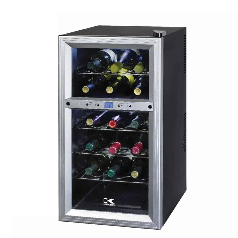 Kalorik 18 Bottle Eco-Friendly Dual-Zone Wine Refrigerator - Fire + Pit