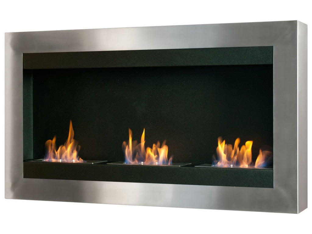 Ignis Magnum Wall Mounted Ventless Ethanol Fireplace - Fire + Pit