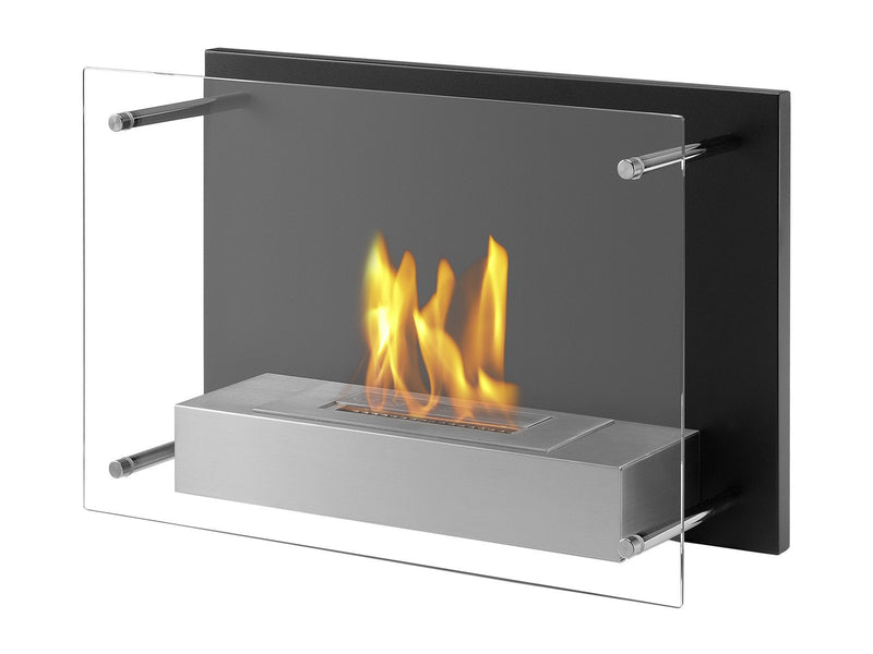 Ignis Senti Wall Mounted Ventless Ethanol Fireplace - Fire + Pit