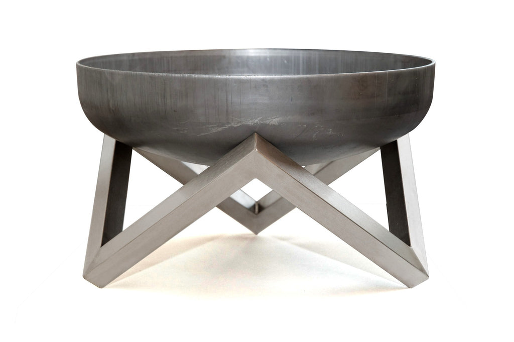 Curonian Solid Steel Fire Pit Memel - Small - Fire + Pit