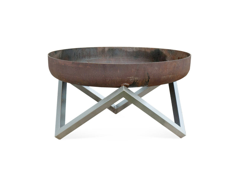 Curonian Solid Steel Fire Pit Memel - Medium - Fire + Pit