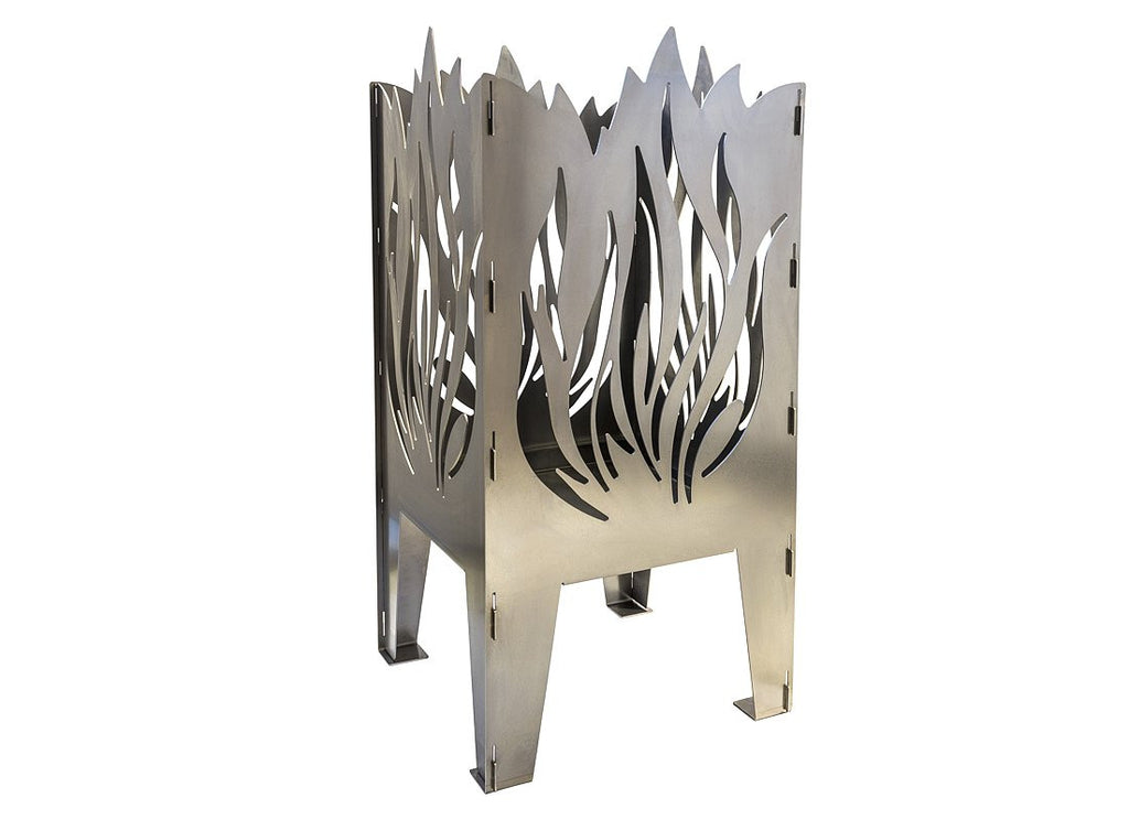 Curonian Fire Basket Flame Solid Steel Wood Burning Fire Pit - Fire + Pit