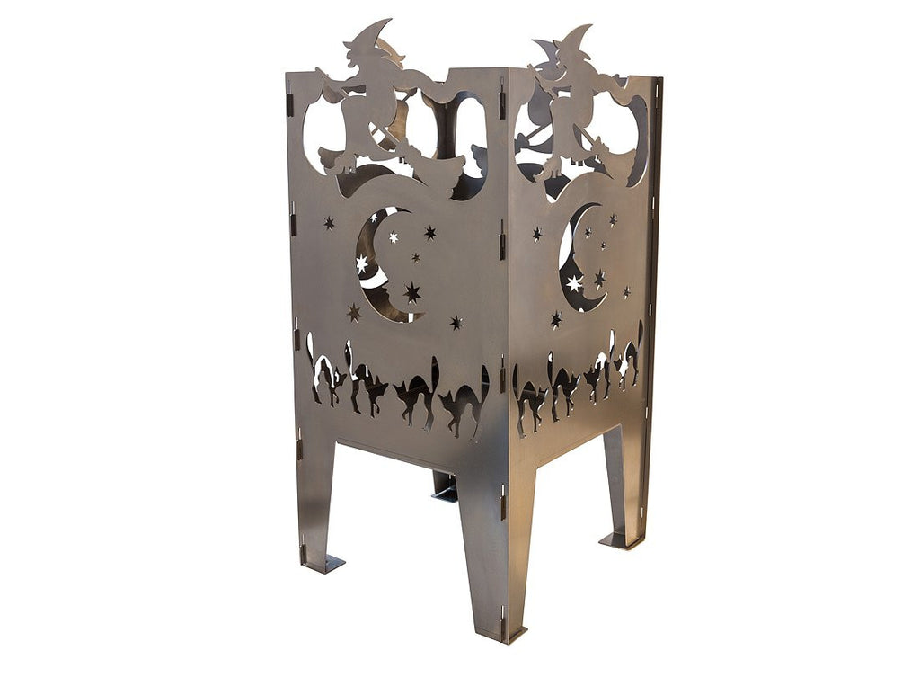 Curonian Fire Basket Witch Solid Steel Wood Burning Fire Pit - Fire + Pit