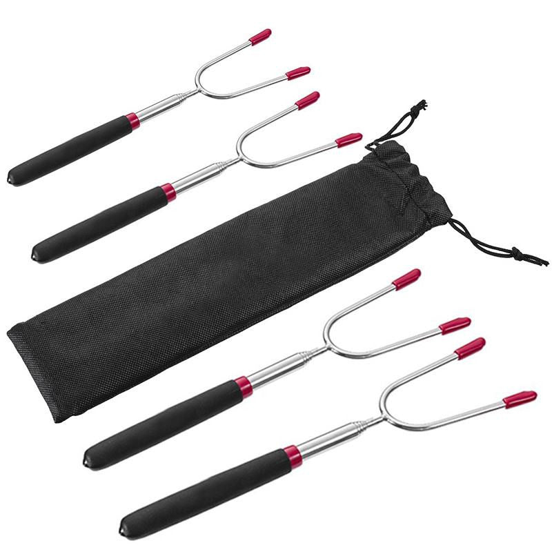 FIRE + PIT Telescoping Roasting Forks - Pack of 4 - Fire + Pit