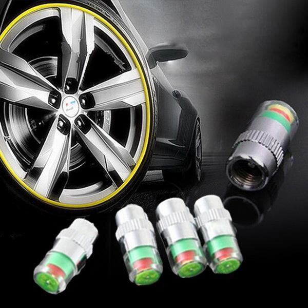 Tire Pressure Alarm Monitors 4pc Set