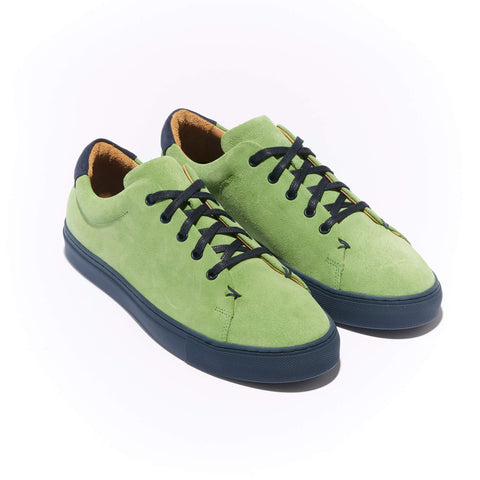 The Braga <br/>Lime Suede <br/>Navy Sole