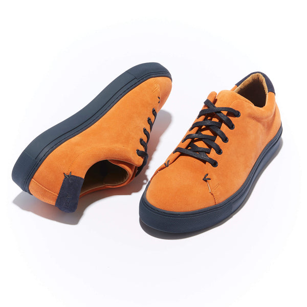 The Braga <br/>Laranja Suede <br/>Navy Sole