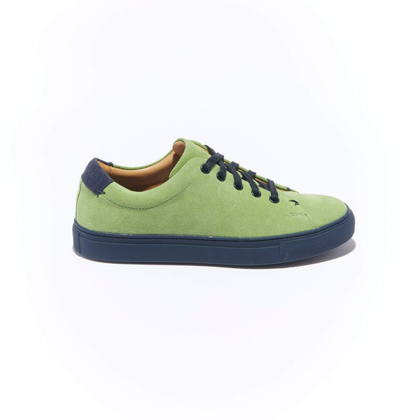 Women's Classic Braga <br/>Lime Suede <br/>Navy Margom Sole