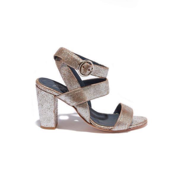 Ankle Strap Sandal <br/>Vintage Silver Leather