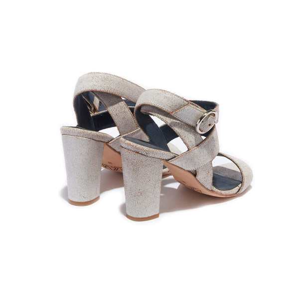 Ankle Strap Sandal <br/>Vintage White Leather