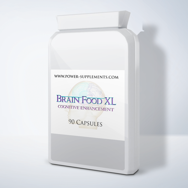 Brain Food XL - Cognitive Enhancement Pills - Power-Supplements-UK
