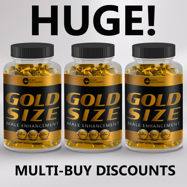 Gold Size - Penis Enlargement Pills - Power-Supplements-UK