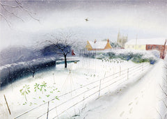 Snow in the Village Greetings Card