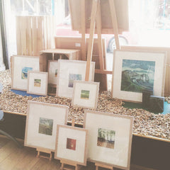 Sarah Ross-Thompson's work is looks harmonious and is well framed