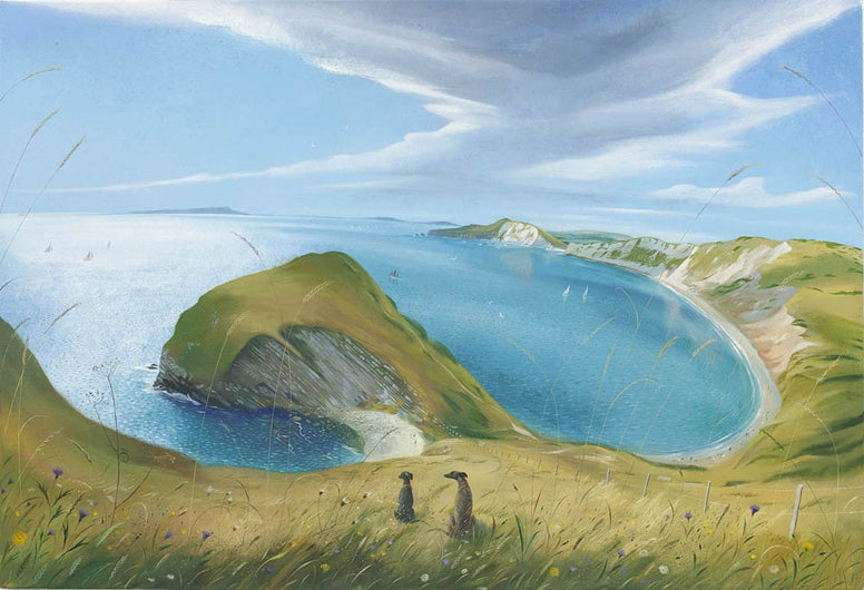 Nicholas Hely Hutchinson - 'Looking Down To Warbarrow Bay'