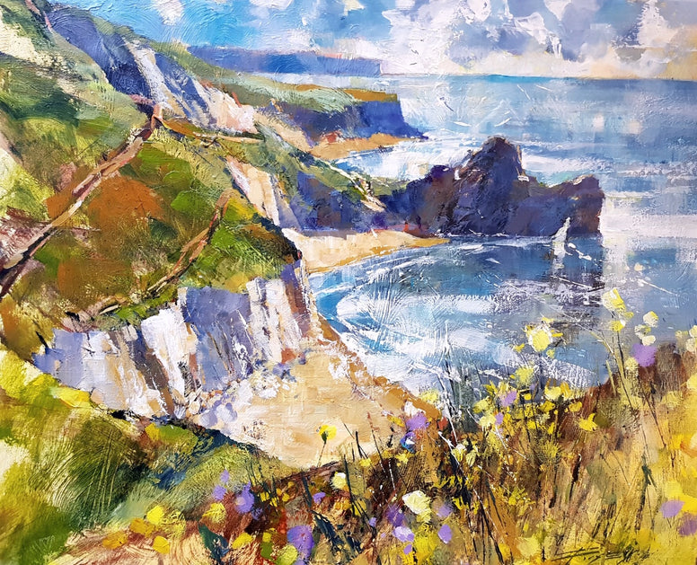 Chris Forsey - Spring on the Cliff, Durdle Door