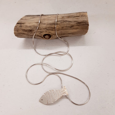 Jill Thompson - Silver Fish Pendant With Chain