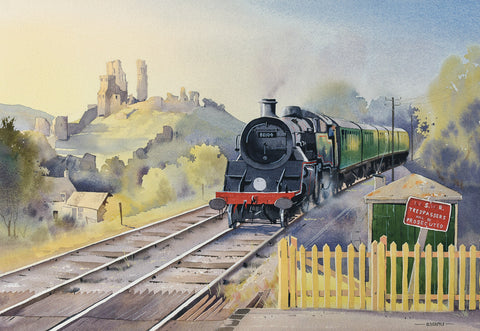 80104 Arrives At Corfe Castle