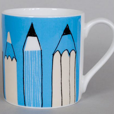 Gallery Pencil Mug - Blue