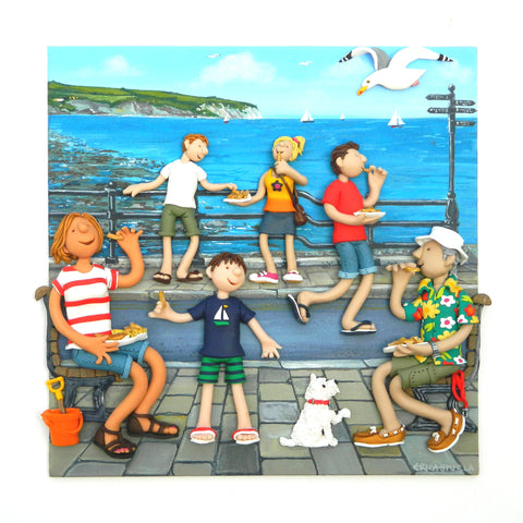 Erica Sturla - Fish and Chips In The Square - Limited edition print