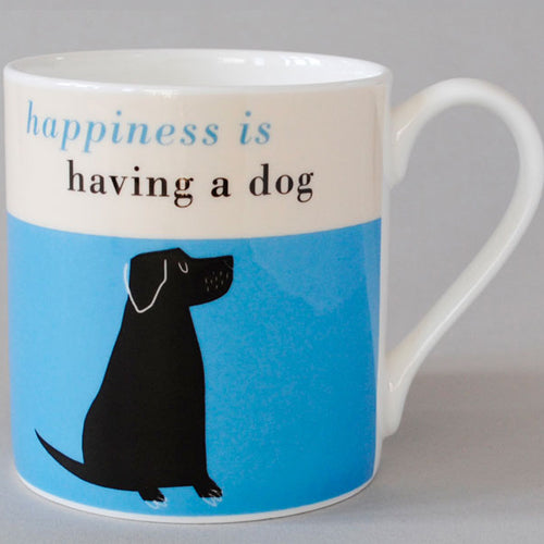 Happiness Black Lab - Turquoise