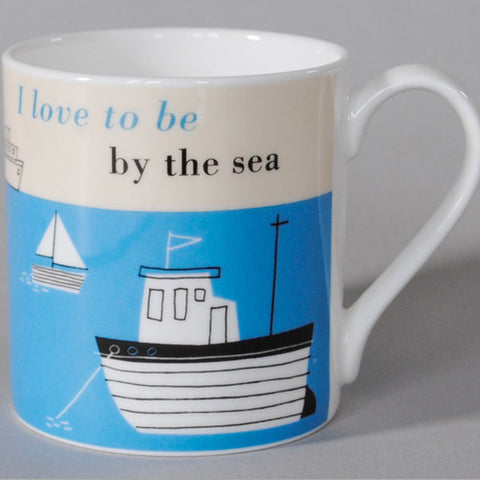 Happiness Boats Mug - Turquoise