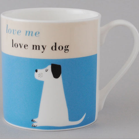 Happiness Dog Bone Mug - Turquoise