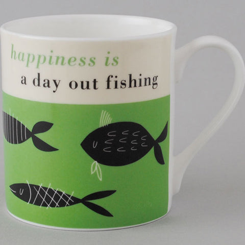 Happiness Fishing Mug - Green